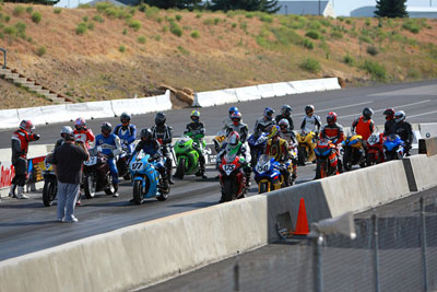 Spokane Track Day: staged on the grid
